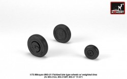 Mikoyan MiG-21 Fishbed late type wheels w/ weighted tires