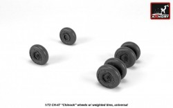 CH-47 Chinook wheels w/ weighted tires, universal