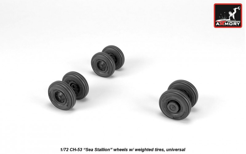 CH-53 Sea Stallion wheels w/ weighted tires, universal