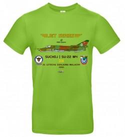 Tričko krátky rukáv Suchoj SU-22M4 - S - Svetlo zelená