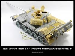 Conversion set for Т-55 m1964, gun barrel (metal)+ PE parts  (participated in the Prague events 1968