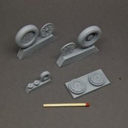 F4U Corsair resin wheels set – No Mask series