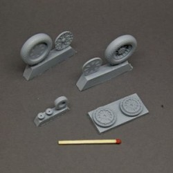 F4U Corsair resin wheels set – No Mask series