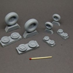 F-14 Tomcat resin wheels set – No Mask series