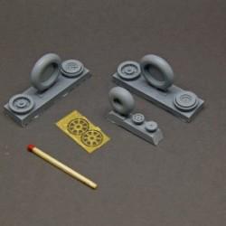 MiG-15 Fagot resin wheels set – No Mask series