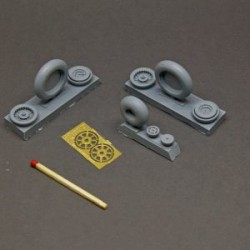 MiG-15 Fagot resin wheels set – No Mask series