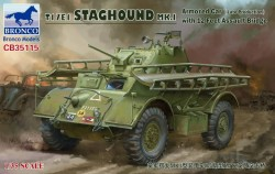 T17E1 STAGHOUND MK.I Armored Car Late Production with 12 Feet Assault Bridge