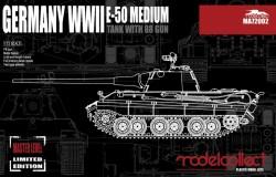 Germany WWII E-50 Medium Tank with 88 Gun
