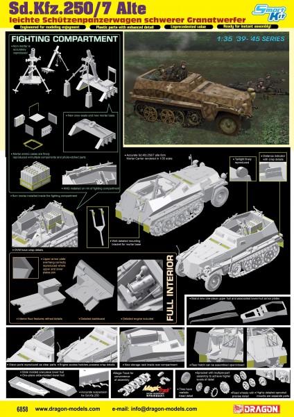 Sd.Kfz.250/7 Alte Ieichte Schutzenpanzerwagwn schwerer Granatwerfer