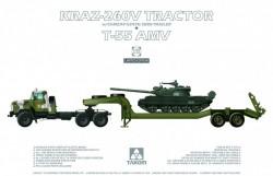 KrAZ-260V Tractor w/ChMZAP-5247G Semi-trailer + T-55AMV