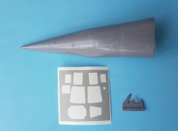 Mig-25 RBF nose conversion for the ICM and Revell kit