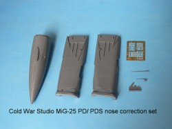 Mig-25 PD/ PDS nose correction set for Kitty Hawk