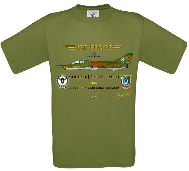 Tričko krátky rukáv Suchoj SU-22UM-3K - S - Svetlo zelená
